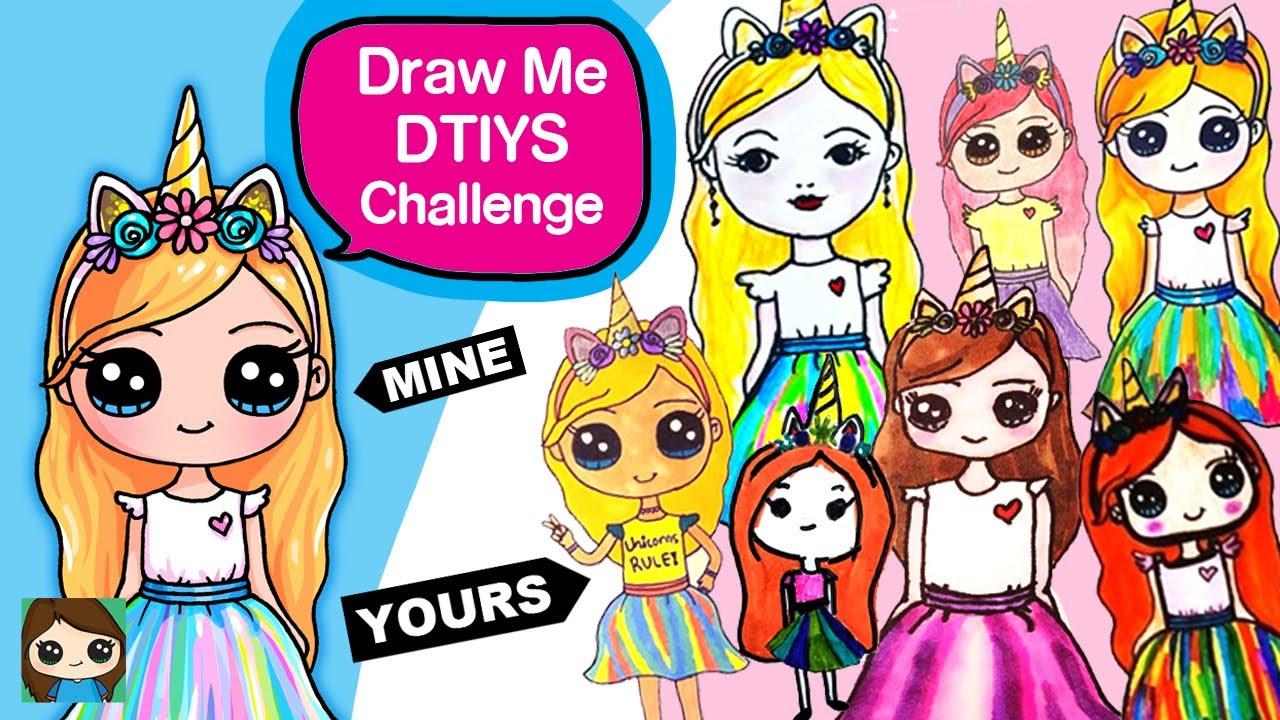 My First Dtiys Challenge On Instagram Drawsocute Unicorn Girl