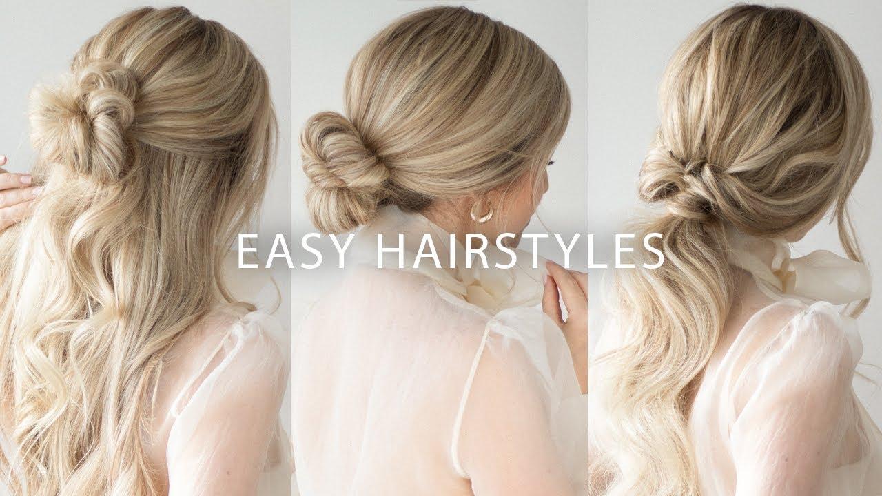 THREE 12 MINUTE EASY HAIRSTYLES ? Medium and Long Hair Tutorial