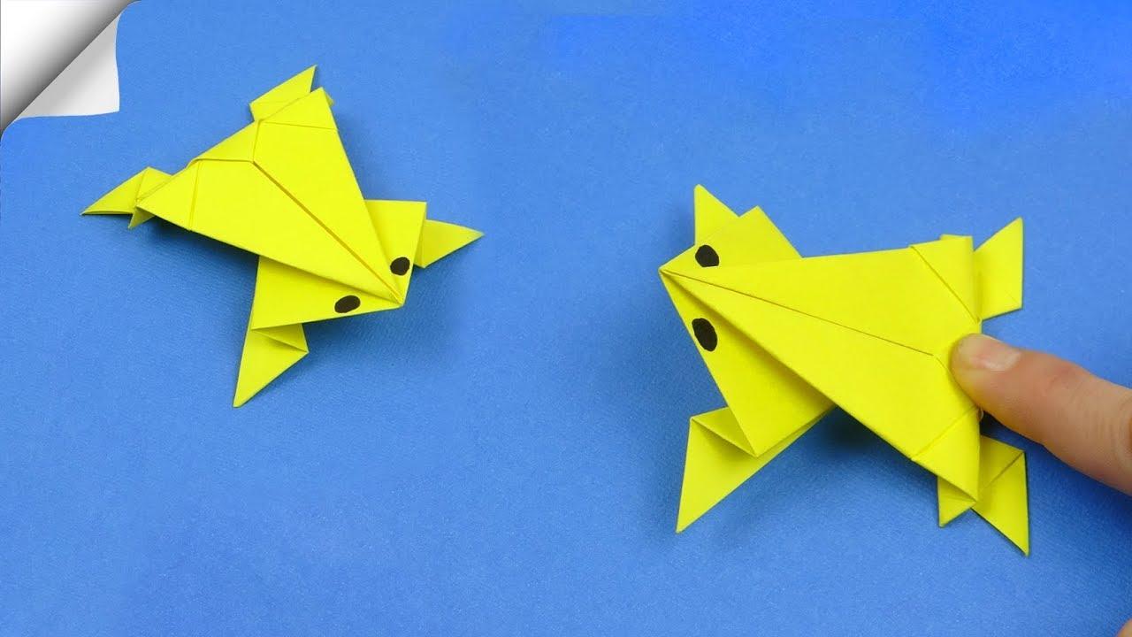 Origami Jumping Frog -Rana Saltarina - YouTube | 720x1280