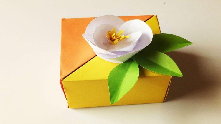 Origami Cactus / Flower Holder (for Masu Box) - Paper Kawaii - YouTube   422x750