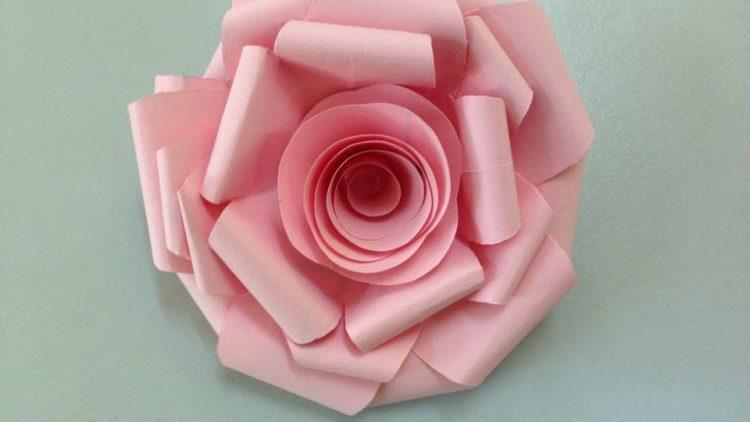Paper Flower Origami 3d Model Choice Image - Flower Decoration Design | 422x750