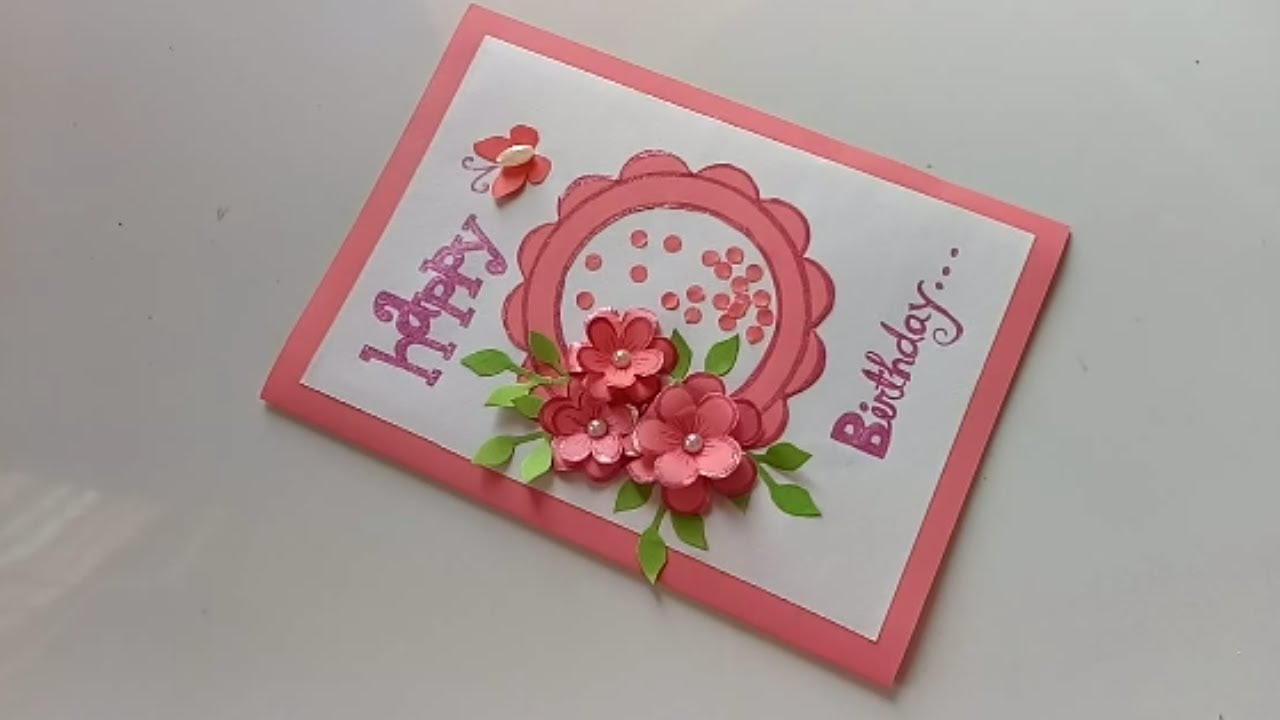 Wondrous Handmade Birthday Card Idea Diy Greeting Cards For Birthday Personalised Birthday Cards Veneteletsinfo