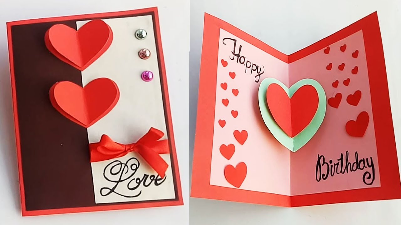Incredible How To Make Birthday Card For Boyfriend Or Girlfriend Handmade Personalised Birthday Cards Paralily Jamesorg