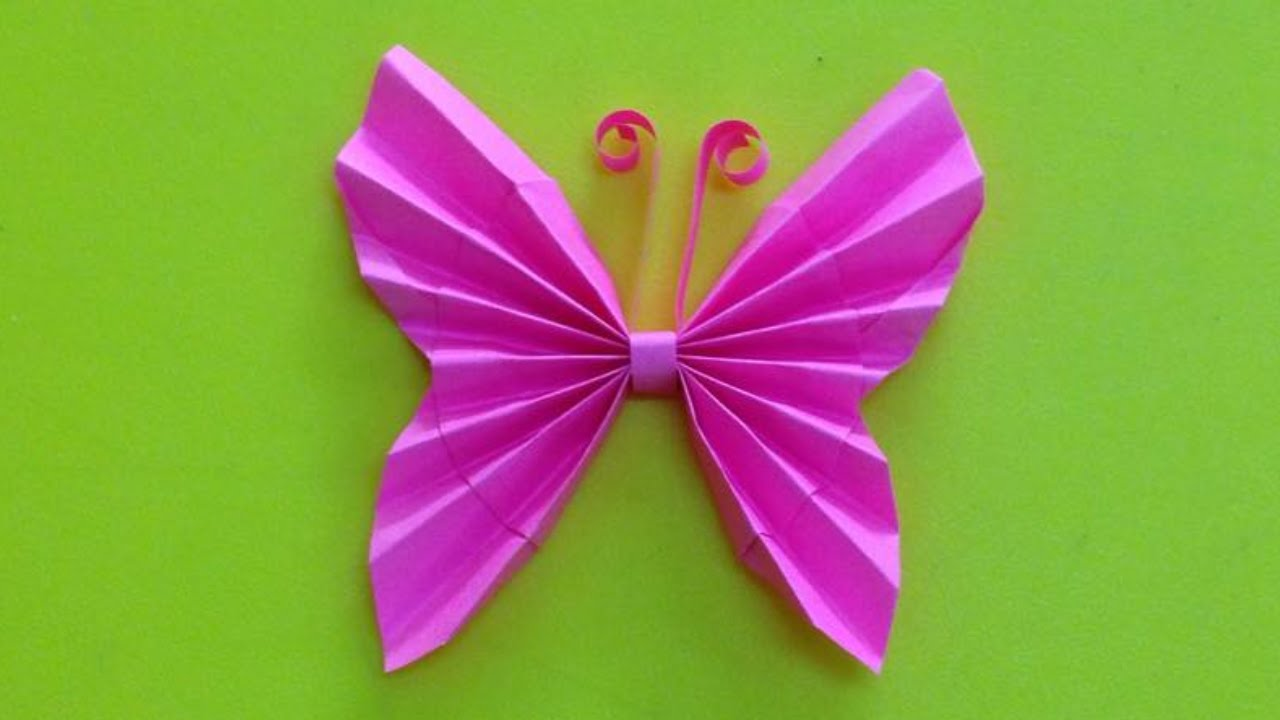 HOW TO MAKE AN EASY ORIGAMI BUTTERFLY. | Origami easy, Origami ... | 720x1280