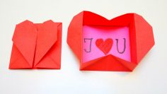 Paper Kawaii — Learn how to make a pretty origami heart box! This...   133x236