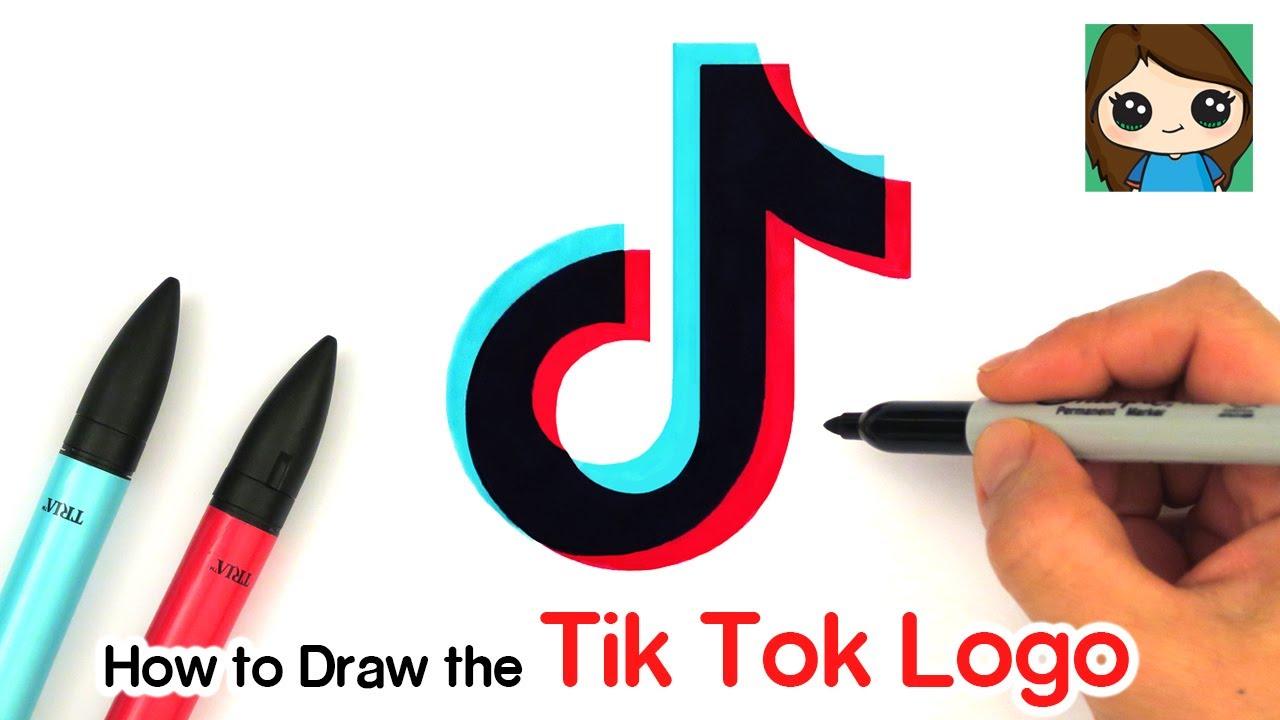 How to Draw the Tik Tok Logo