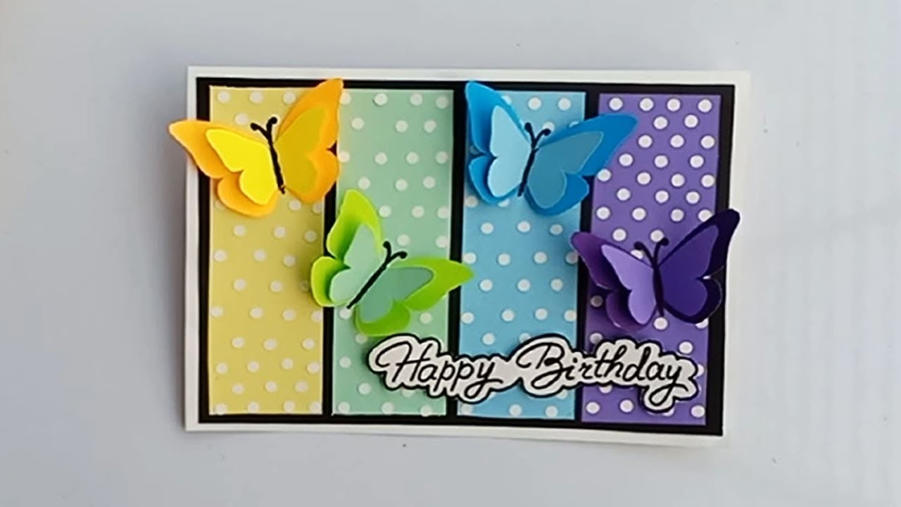 Stupendous How To Make Special Butterfly Birthday Card For Best Friend Diy Funny Birthday Cards Online Inifofree Goldxyz