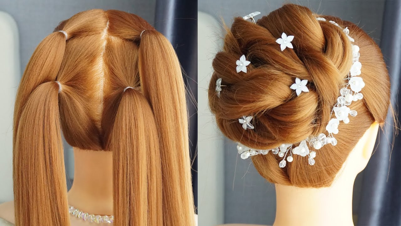 New Latest Bun Hairstyle With Trick - Prom Hairstyles Updos Easy