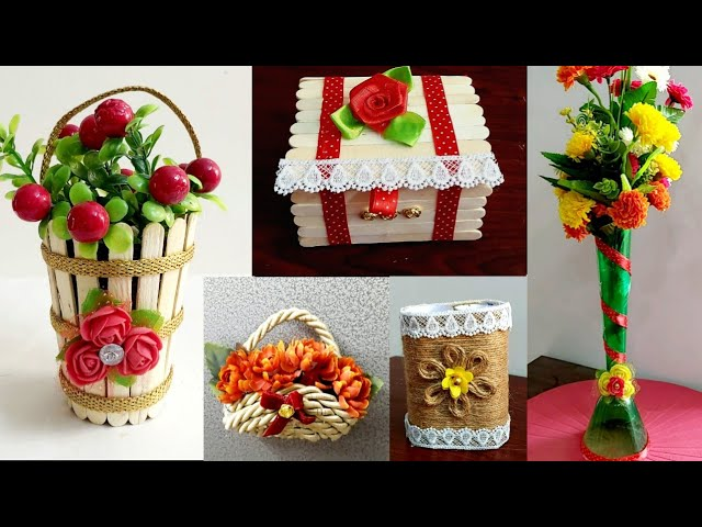 5 Easy Room Decor Ideas From Best Out Of Waste Best Out Of Waste Craft Ideas Diy Home Decor