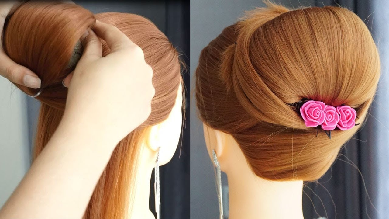 Latest Hair Style Girl 11 For Party And Wedding  Easy Bun