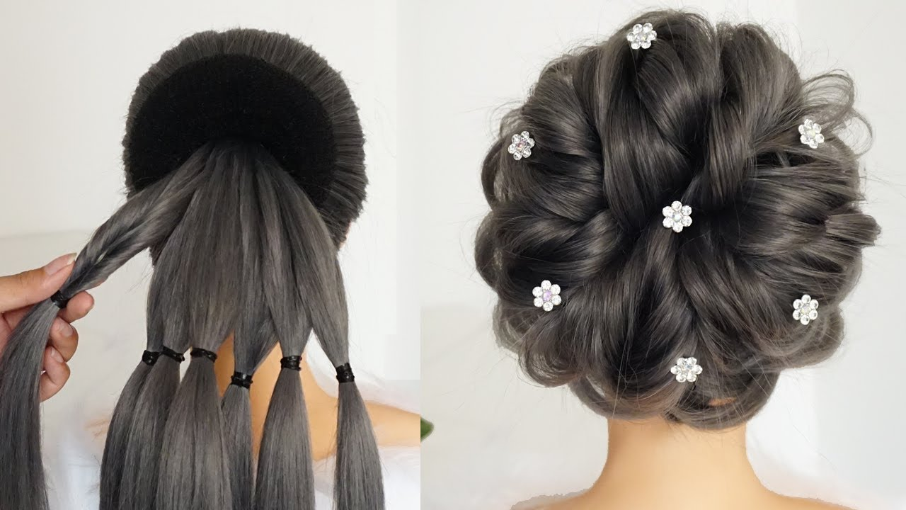 Perfect Messy Bun Hairstyle - Hairstyle For Bridal 2020 | Ladies Hair Style | Wedding Hairstyles ...