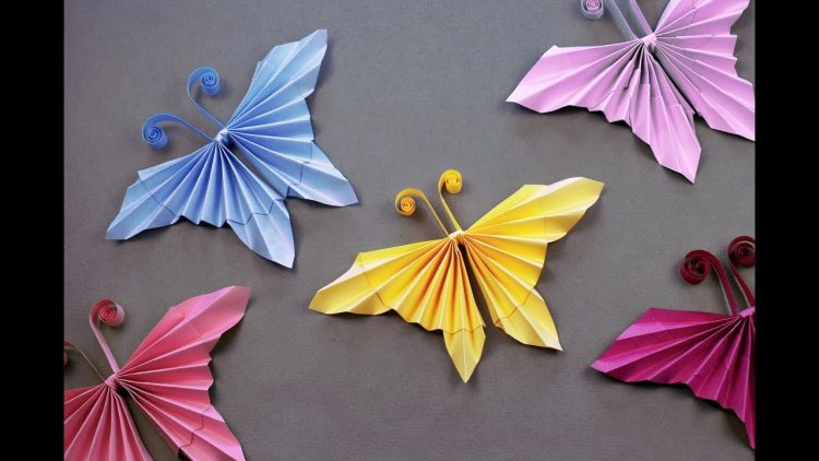 ORIGAMI BUTTERFLY BOOKMARK. - YouTube   422x750