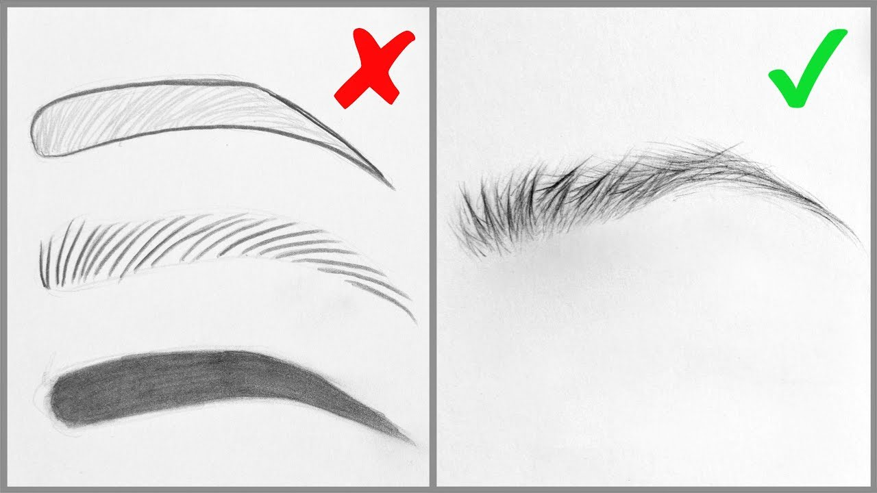 EASY TIPS for Drawing Realistic Eyebrows - Basic Mistakes ...