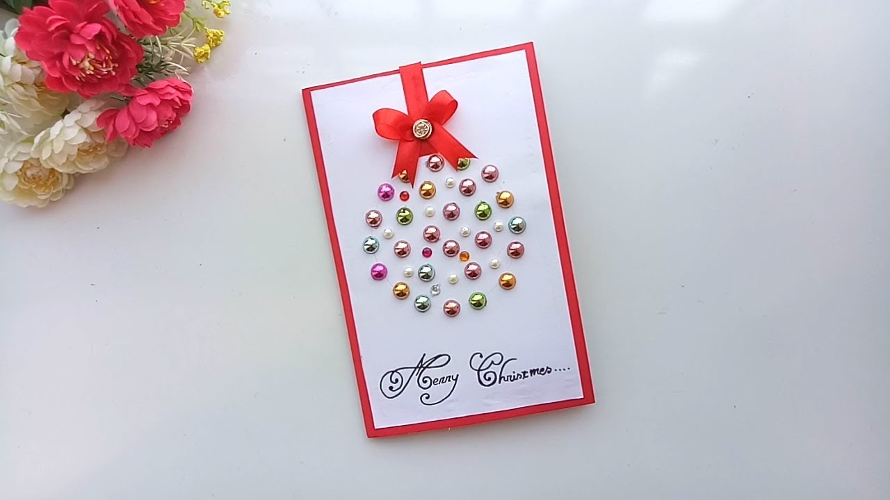 Beautiful Handmade Christmas Card Idea Diy Christmas Card Tutorial