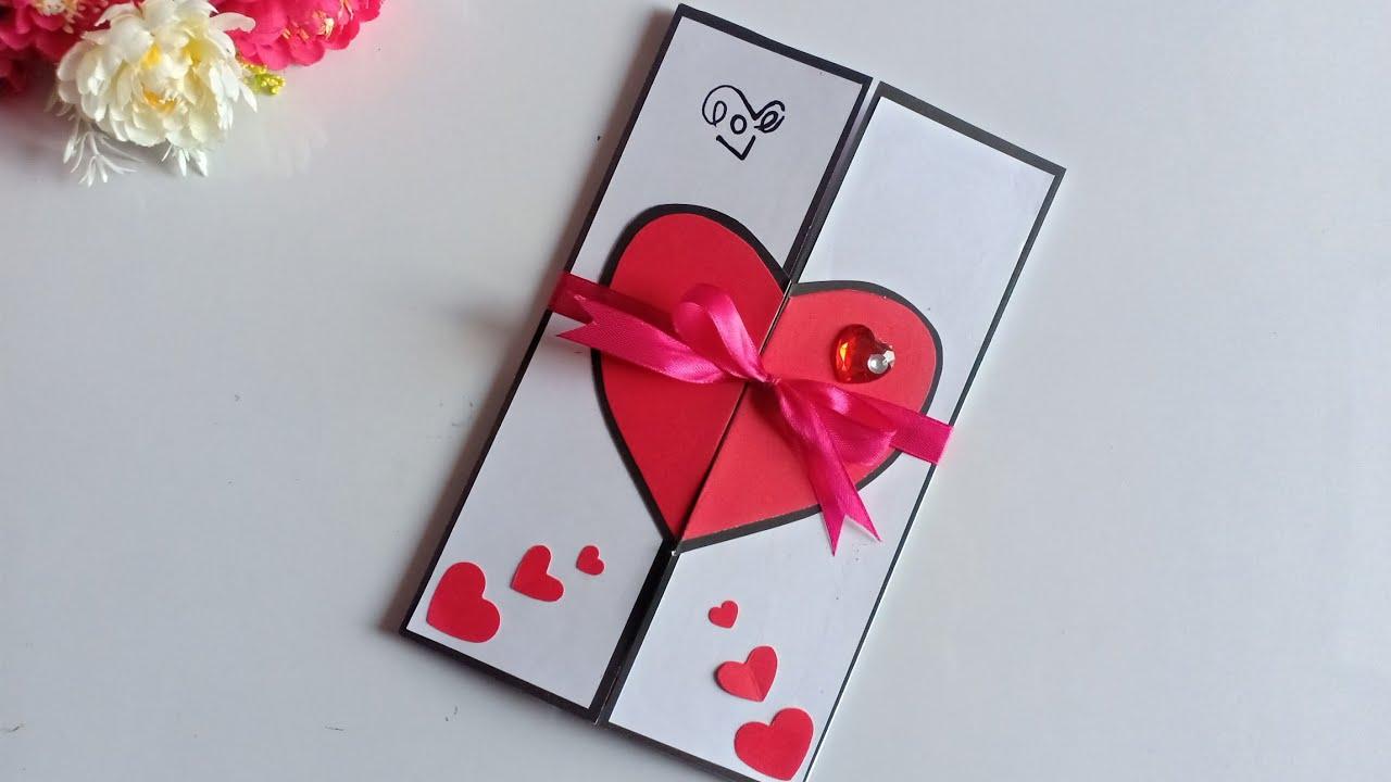 Beautiful Handmade Valentine S Day Card Idea Diy Greeting Cards For Valentine S Day Card