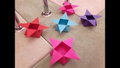 DIY! How can I make an origami window star? - YouTube   Origami ...   133x236
