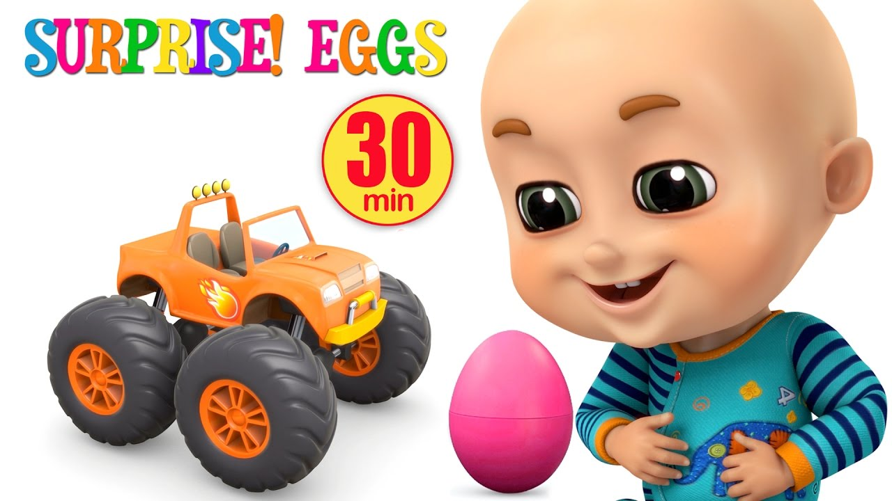 Surprise Eggs Monster Trucks Toys For Kids Surprise Eggs Videos From Jugnu Kids