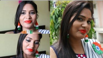 Independence Day Special Makeup Accessories Easy Look Indiantricolormakeup Independenceday Bizimtube Creative Diy Ideas Crafts And Smart Tips