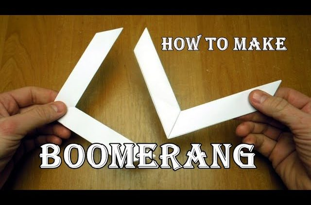 Making a boomerang out of paper with your own hands – Survival in ... | 422x640