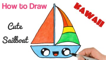 How To Draw Sailboat Bizimtube Creative Diy Ideas Crafts And Smart Tips