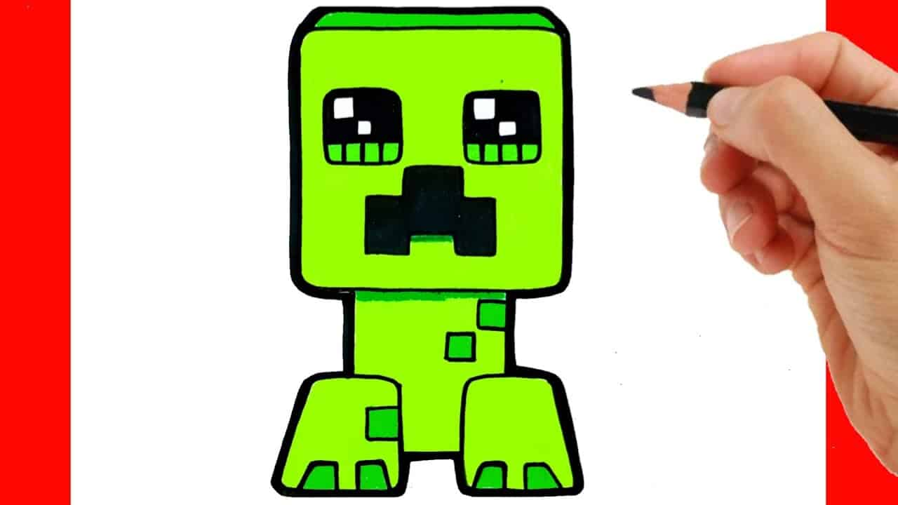 How To Draw Creeper Easy Step By Step How To Draw Minecraft