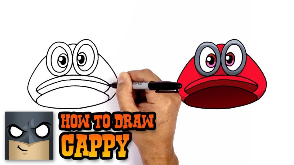 How To Draw Cappy Super Mario Odyssey
