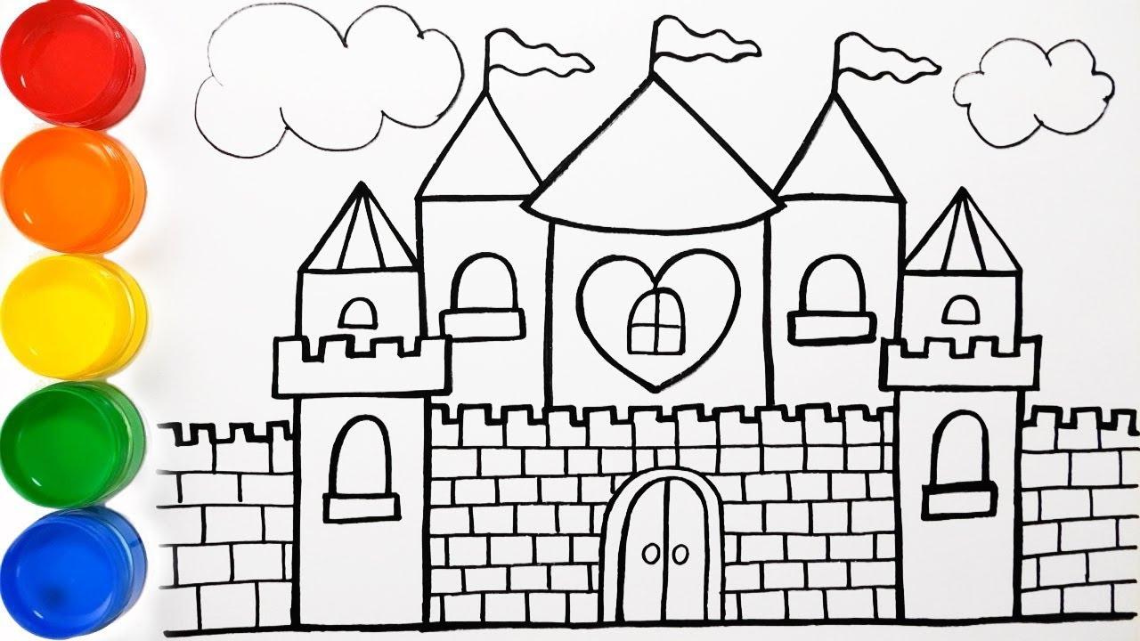 Como Dibujar y Colorear Castillo de Arco Iris - Aprende ...