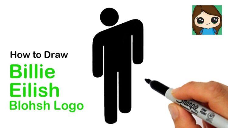 How To Draw The Billie Eilish Blohsh Logo Bizimtube Creative Diy Ideas Crafts And Smart Tips
