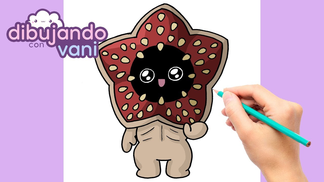 Como Dibujar Demogorgon Stranger Things Kawaii Dibujos Kawaii Dibujos Faciles