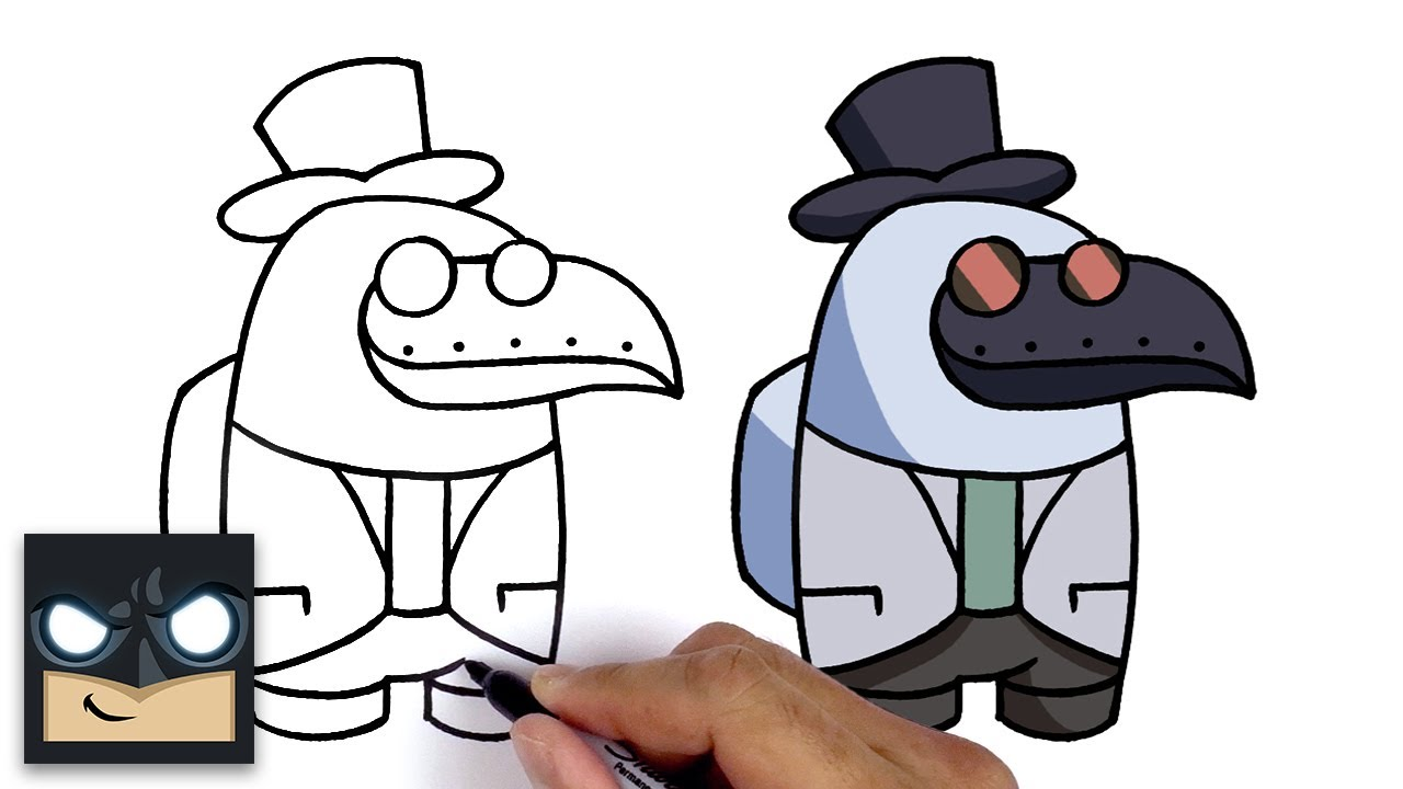 How To Draw Plague Doctor Among Us