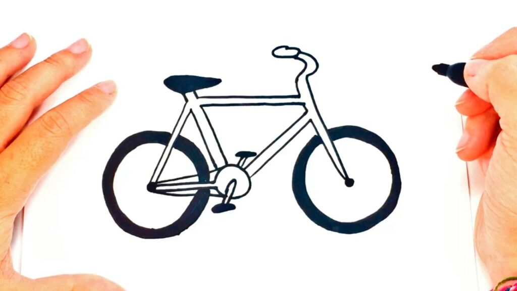 Cómo Dibujar Una Bicicleta Paso A Paso Dibujo Fácil De Bicicleta