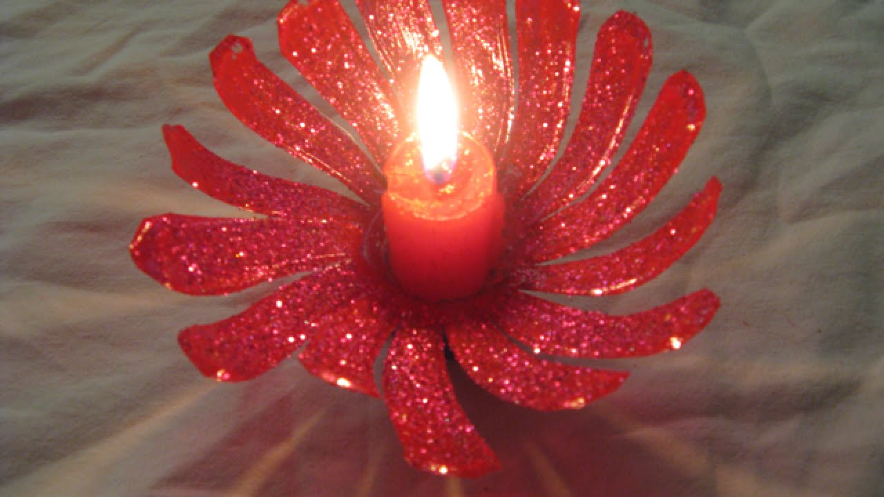 Create A Pretty Plastic Bottle Candle Holder Home Guidecentral