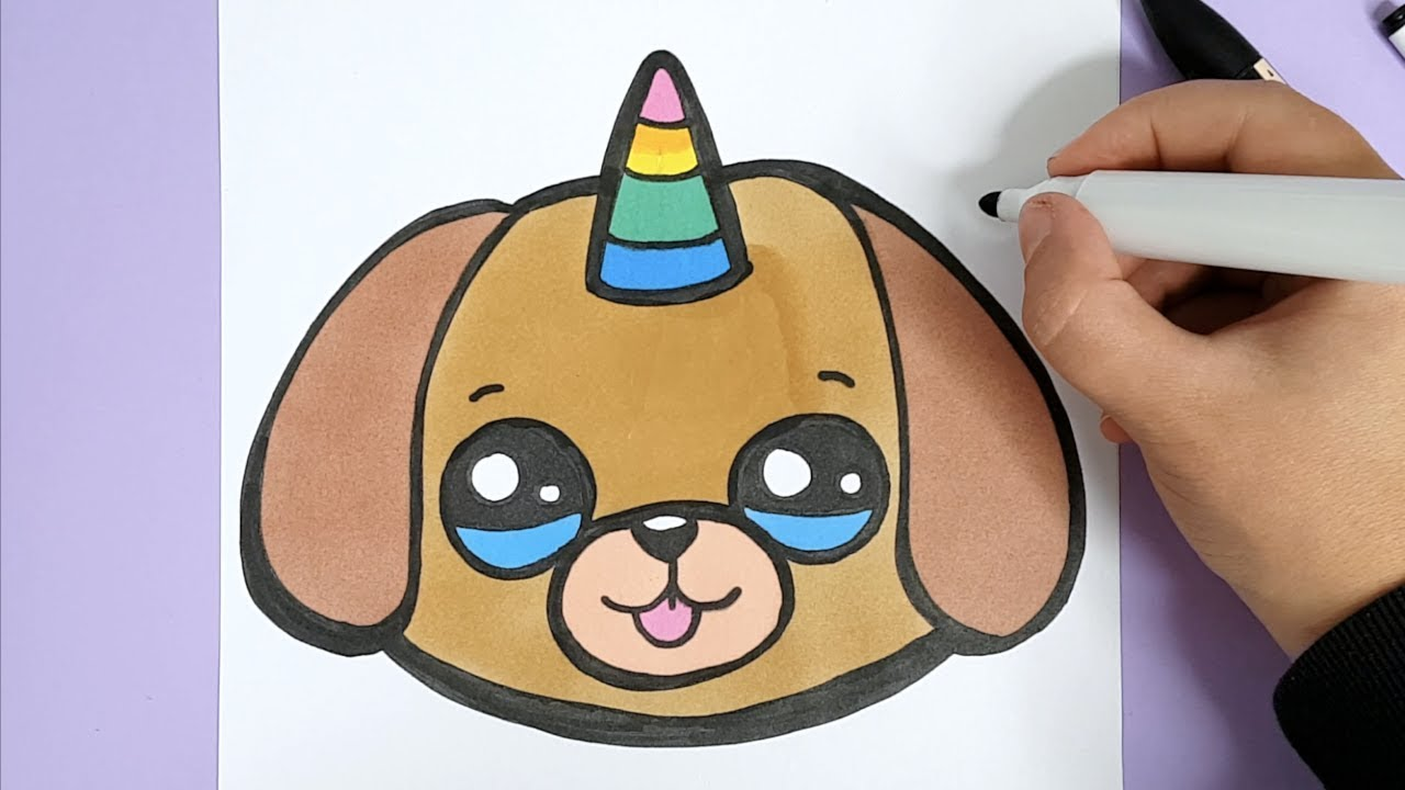 Kawaii Einhorn Hund Emoji Malen Kawaii Bilder